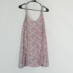 American Eagle Floral Strappy Back Tank Top Size S